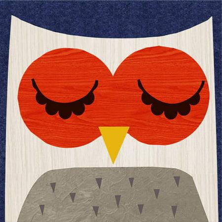 Oopsy Daisy - Retro Animals - Owl Canvas Wall Art 10x10, Rebecca Elliott