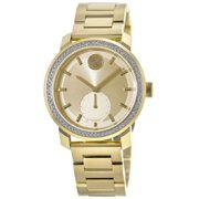 Movado Bold Gold Tone Crystal Bezel Women's Watch 3600619