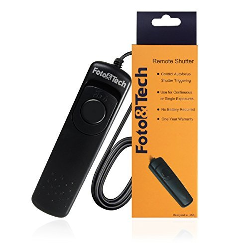 Foto&Tech Wired Remote Shutter Release RM-S1AM Replacement for Sony Alpha A99, A77, A65, A58, A57, A350, A500, A550, A560, A580, A700, A850, A900, A55, SLT A57, SLT A37, SLT A55, SLT A65, SLT a77