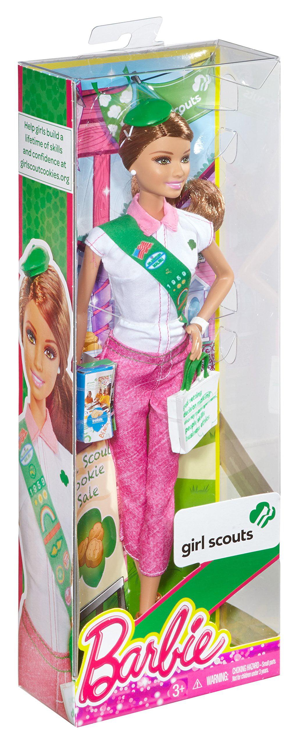 Brunette Doll Barbie Loves Girl Scouts