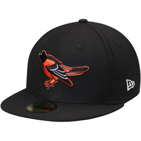 Baltimore Orioles New Era Cooperstown Collection Wool 59FIFTY Fitted Hat - Black