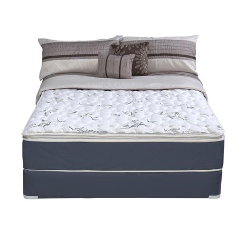 Wolf Mattress Wolf Sleep Accents Illusion Plush Pillowtop Queen-size Mattress and Foundation Set