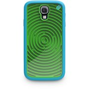 PUREGEAR RETRO GAME CASE GROOVY GREEN BLUE HARD/SOFT COVER FOR SAMSUNG GALAXY S4