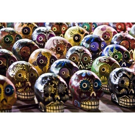 Sugar Skull Painting (Framed Art for Your Wall Skulls Painting Sugar Skulls Culture 10x13 Frame )