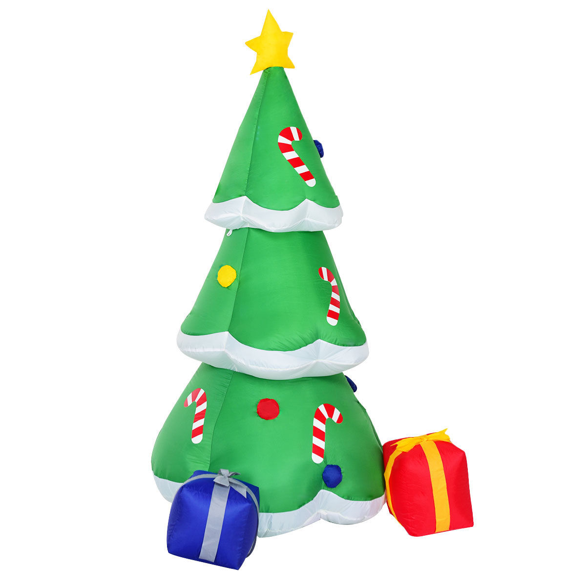 Gymax 6FT Inflatable Christmas Tree w/ Gift Boxes Lighted Christmas Decor - image 3 of 7