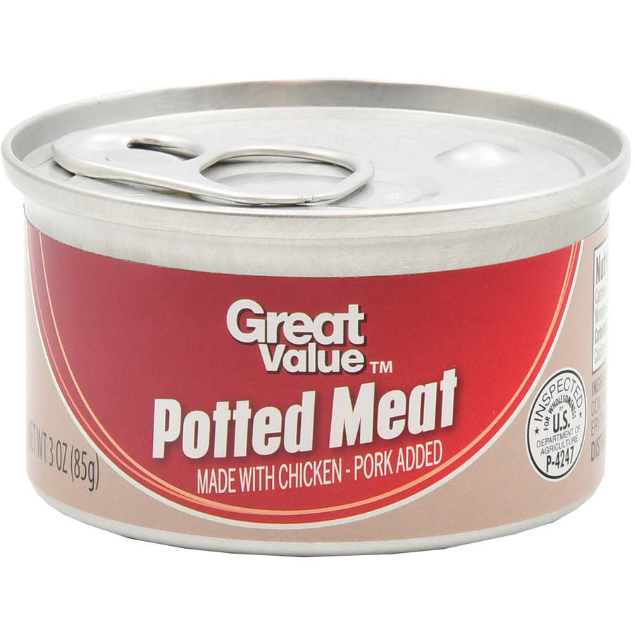 (4 Pack) Great Value Chicken & Pork Potted Meat, 3 oz Can
