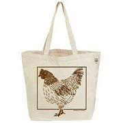Ecobags Chicken Tote Bag Size 19 Inches X 15.5 Inches X 7.55- 1 Ea