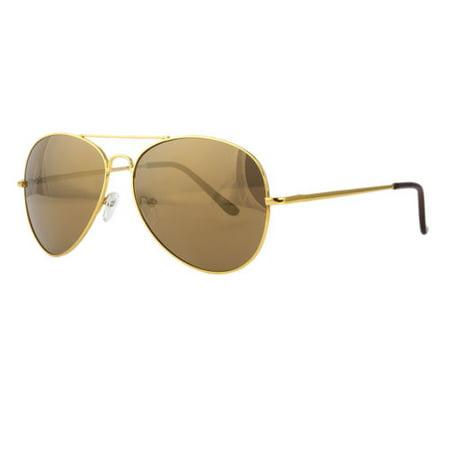 Classic GOLD Aviator Retro Mens Fashion Metal Vintage Designer Sunglasses