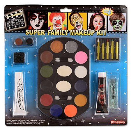 Super Jumbo Value Deluxe Family Makeup Kit; Halloween Makeup - Family Dollar Halloween Makeup