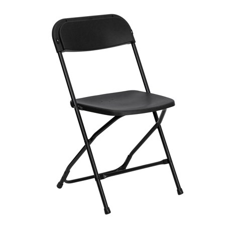 Flash Furniture (1-Pack) HERCULES Series Premium Plastic Folding Chair, - Classic 18 Inch Director Chair