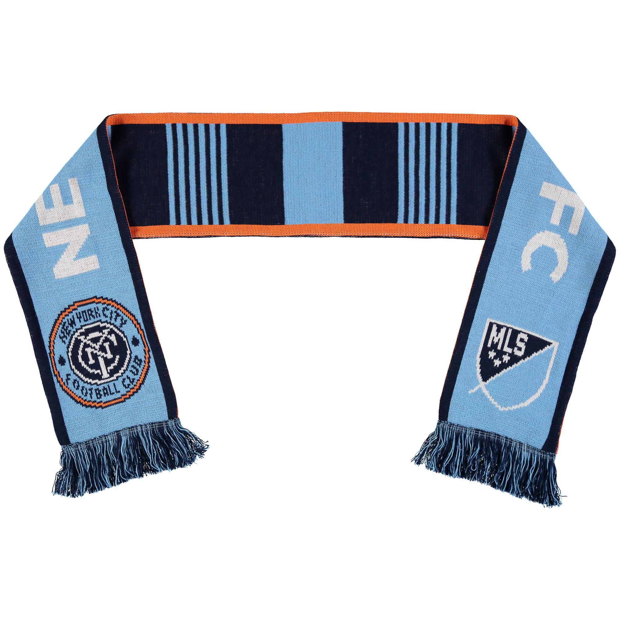 New York City FC Classic Knit Scarf - Light Blue/Navy - No Size