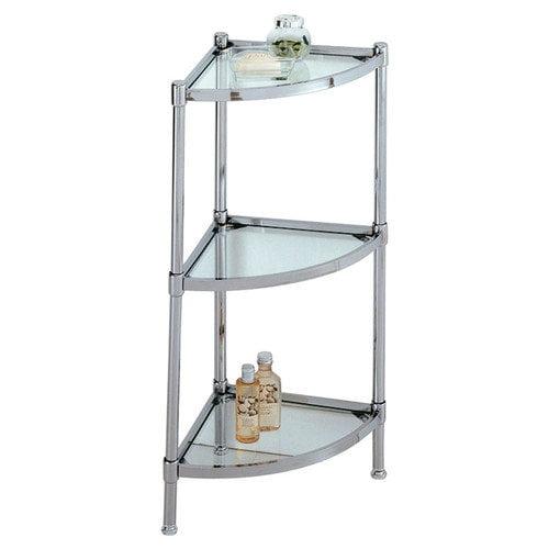 Organize It All Glacier 13.25'' x 31'' Bathroom Shelf