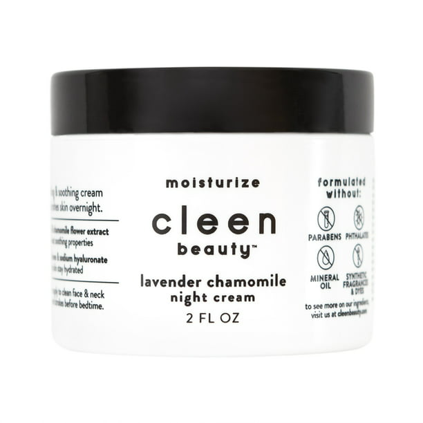 cleen beauty Night Cream with Lavender & Chamomile, 2 fl oz