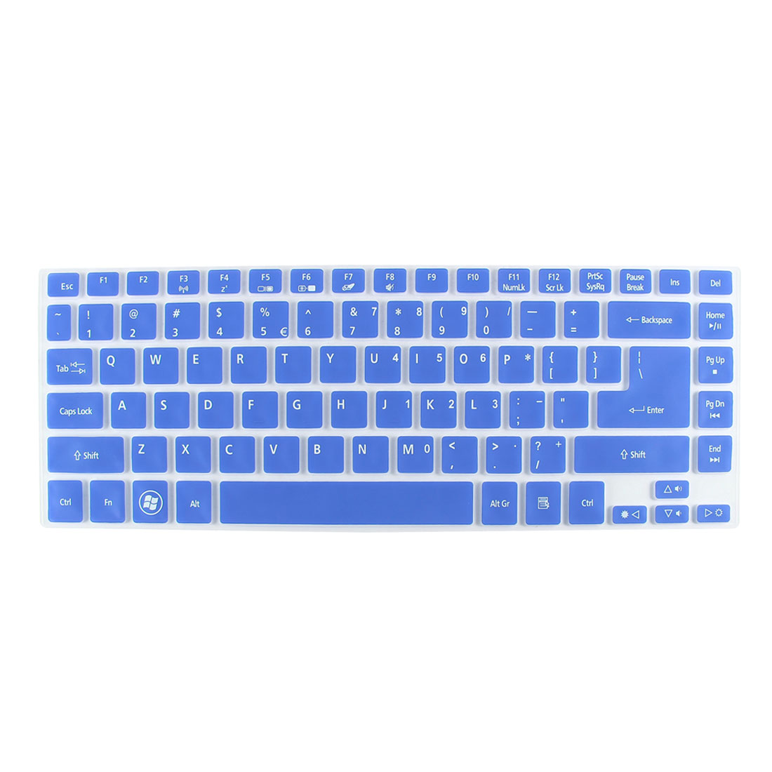 Unique Bargains Notebook Dustproof Protector Film Keyboard Cover Blue Clear for Acer 3830