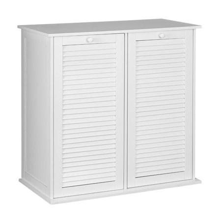 Household Essentials Tilt-Out Laundry Sorter Cabinet with Shutter - Tilt Out Storage