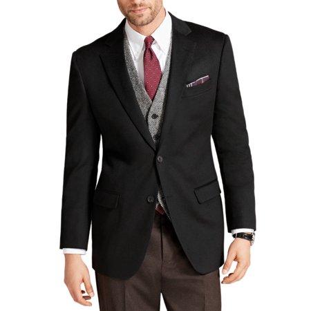 New  Brooks Brothers Mens Black Fitzgerald Fit Cashmere Two Button Blazer 48L 0953-1