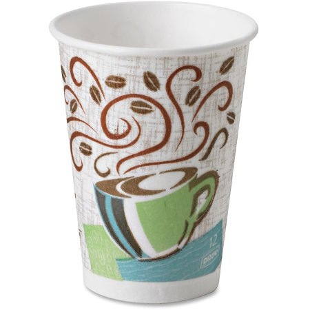 Dixie, DXE5342CDPK, PerfecTouch Coffee Haze Hot Cups, 50 / Pack, Assorted (Coffee Cups Hd Design)