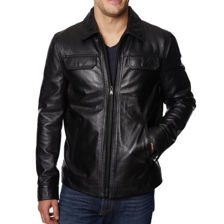 Men Jacket Medium Zip-Front Motorcycle Leather M