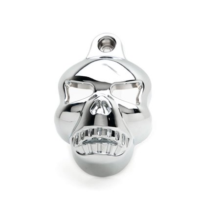Chrome Skull Head Horn Cover Stock Cowbell Horns For Harley Davidson XL 883 Hugger Sportster - image 1 of 5