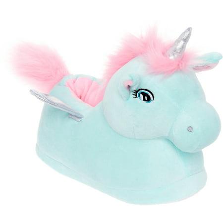 Silver Lilly Rainbow LED Light Up Pegasus Plush Novelty Animal Slipper - Rainbow Dash Slippers