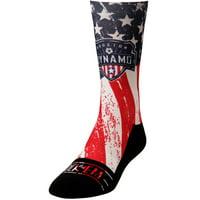 Houston Dynamo Rock Em Socks For Club and Country Shin Socks - Blue/Red