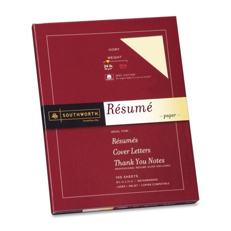 Cotton Paper (Southworth 100% Cotton Resume Paper, 8.5