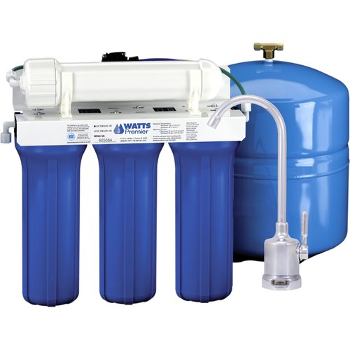 Watts Premier 5-Stage Reverse Osmosis System with Monitor Faucet