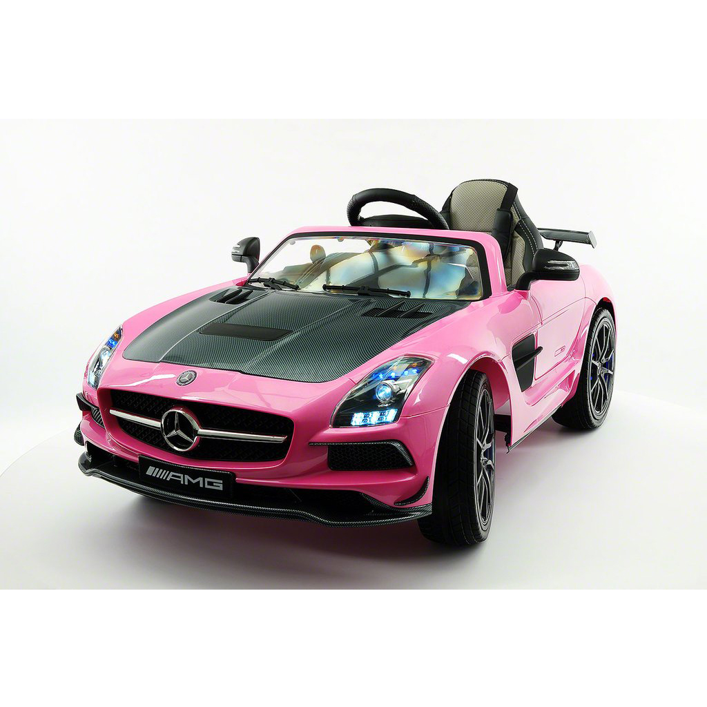 2017 LICENSED MERCEDES SLS AMG FINAL EDITION,12V ELECTRIC KIDS RIDE-ON CAR,GIRLS&BOYS,3-6 YEARS,MP3+MP4 COLOR LCD ENTERTAINMENT SYSTEM,RUBBER TIRES,LEATHER SEAT,LED BODY TRIM,PARENTAL REMOTE|PINK