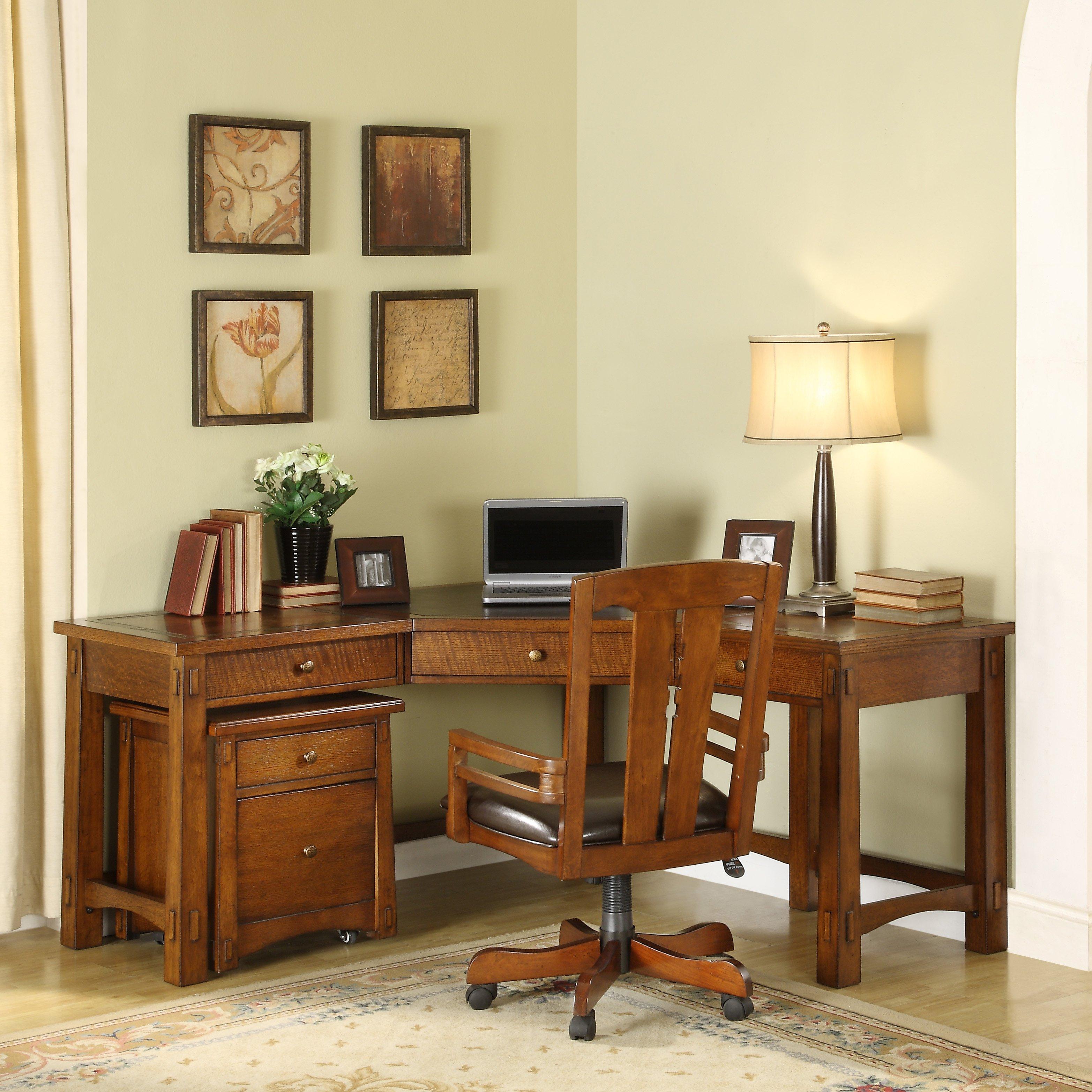 Riverside Furniture Riverside Craftsman Home Corner Desk