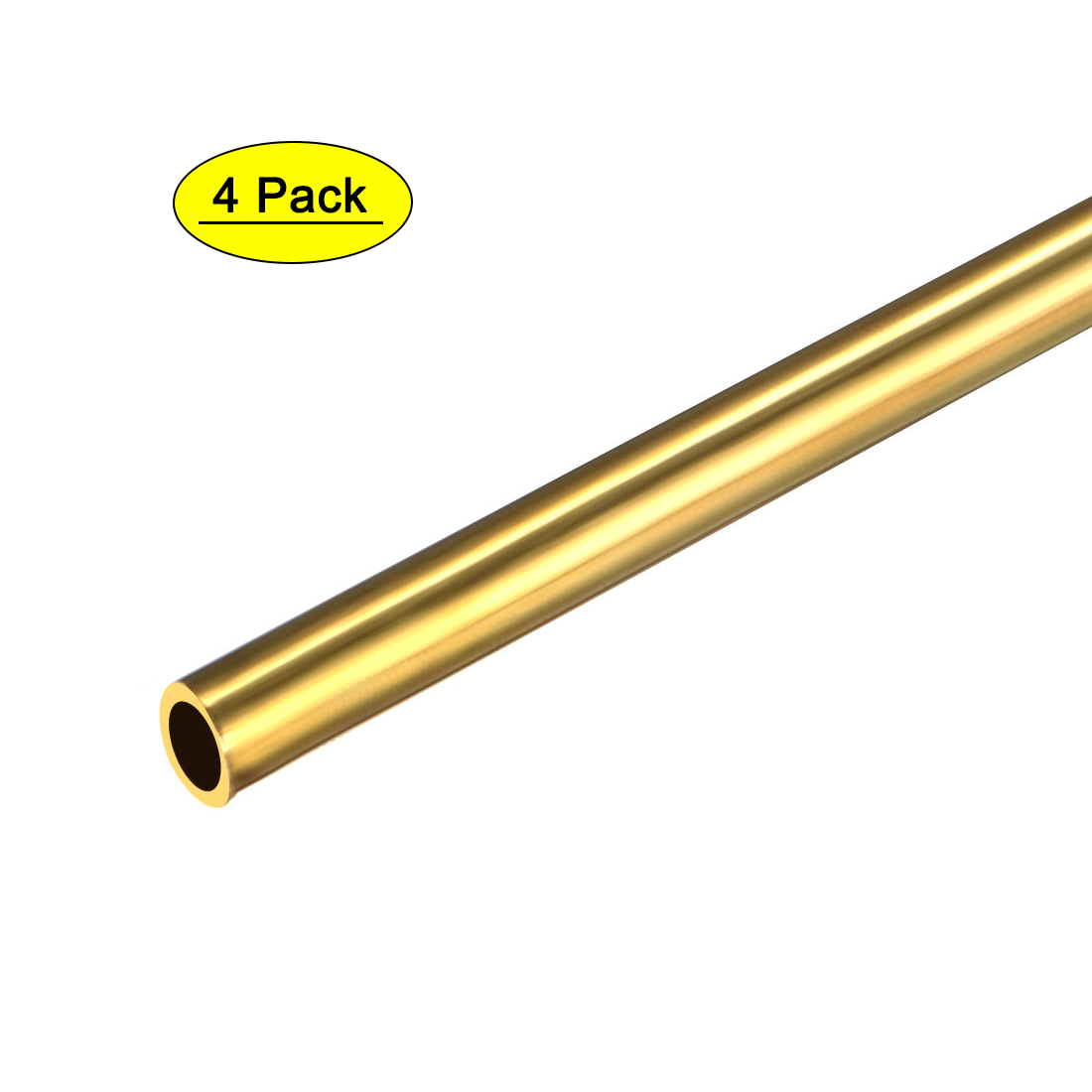 uxcell 2PCS 0.15mm x 0.4mm x 500mm Brass Pipe Tube Round Bar Rod for RC Boat