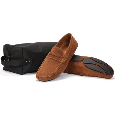 Mio Marino Threaded Band Suede Loafers for Men