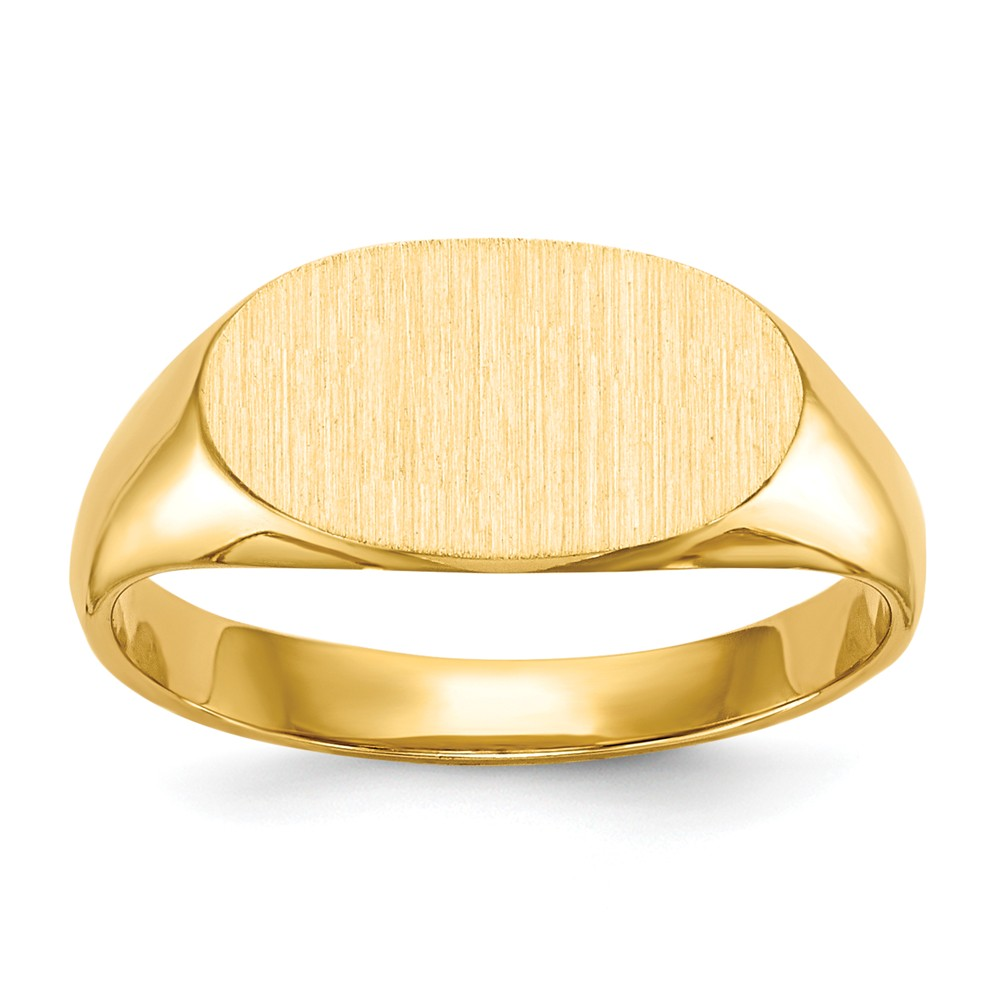 14k Yellow Gold Engravable Signet Ring - 2.2 Grams - Size 4