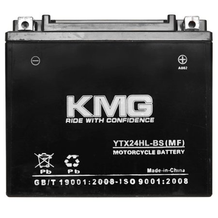 KMG YTX24HL-BS Sealed Maintenance Free 12V Battery High Performance SMF OEM Replacement Powersport Motorcycle ATV Scooter Snowmobile Watercraft - image 3 of 3