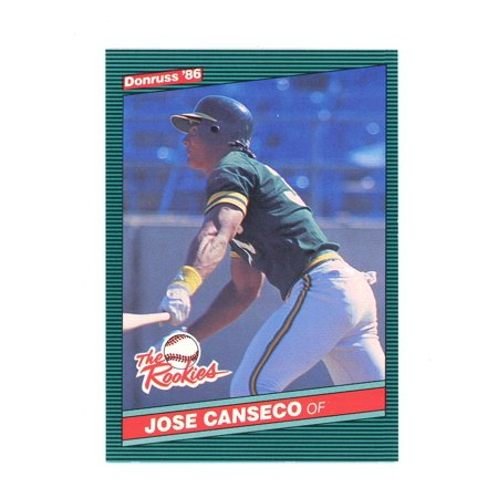 1986 Donruss The Rookies 22 Jose Canseco Oakland Athletics Rookie Card