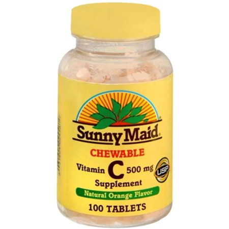 Sunny Maid Vitamin C 500 mg Chewable Tablets 100 Tablets