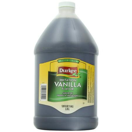 4 PACKS : Durkee Vanilla Flavor Imitation, 128-Ounce