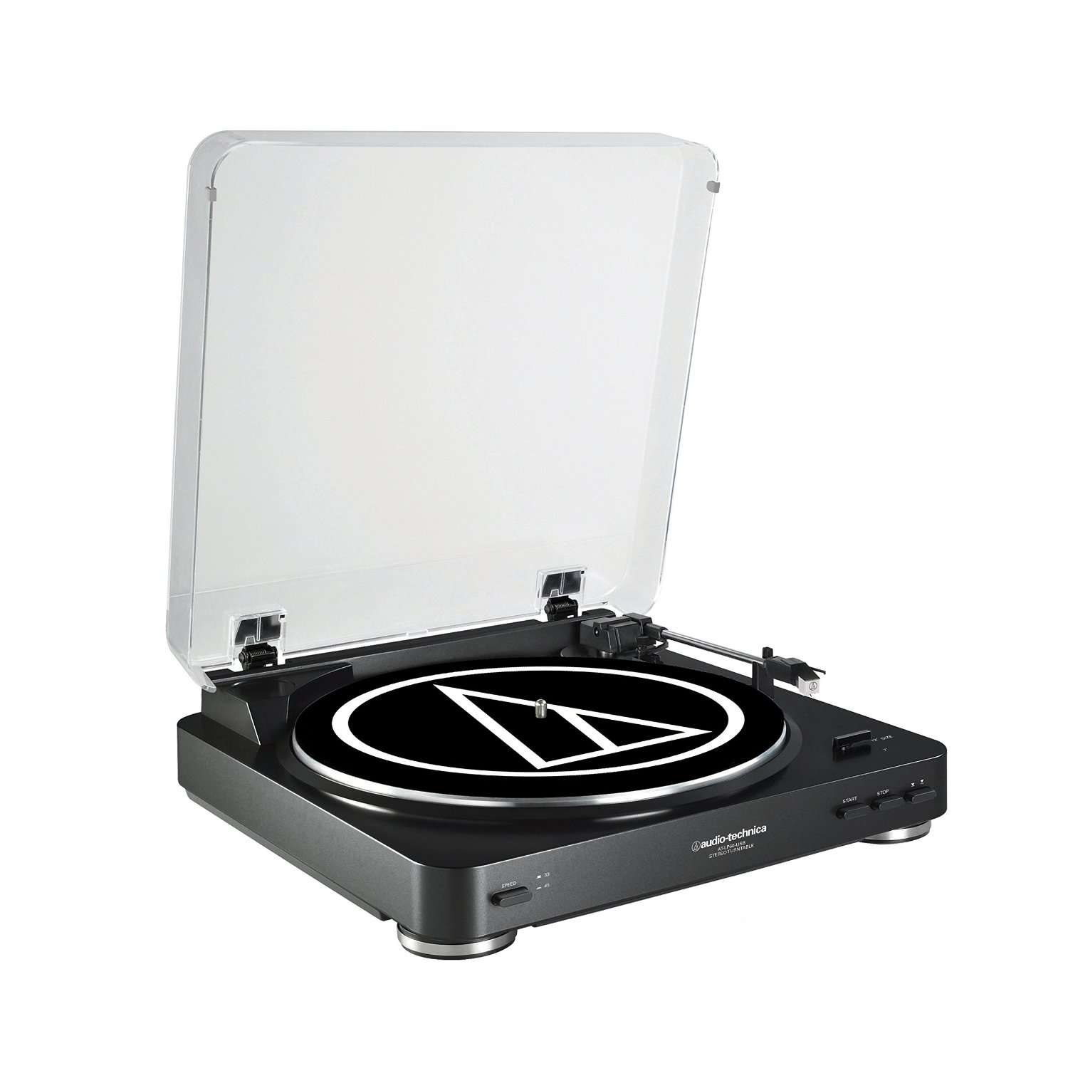 Audio-Technica Fully Automatic Belt-Drive Stereo Turntable (USB & Analog, Black)