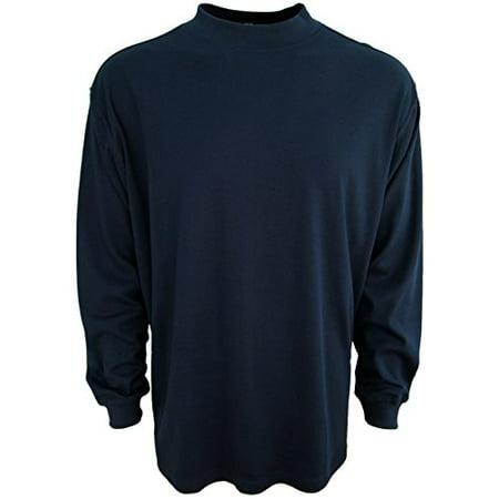 Mens luxury cotton mock neck shirt turtleneck pre shrunk for Mens mock turtleneck shirts