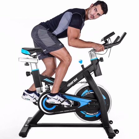 TREXM Indoor Cycling Bike Belt Drive Exercise Bike with Adjustable 22lbs Flywheel & Cup holder For Home Cardio Gym Workout