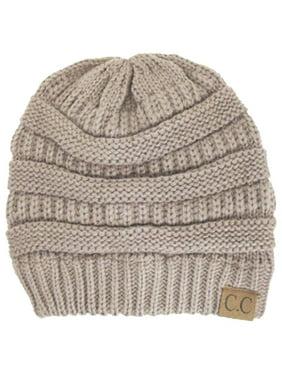 C.C Women's Thick Soft Knit Beanie Cap Hat