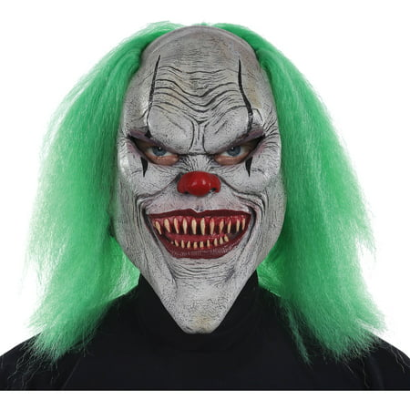 Evil Clown Mask Adult Halloween Accessory - It Clown Halloween Mask