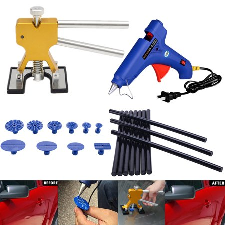 Pro Paintless Dent Remover Removal Tools Kits Car Auto Body Hail Damage and Door Dings Repair Devices Set Dent Lifter with Hot Melt Glue