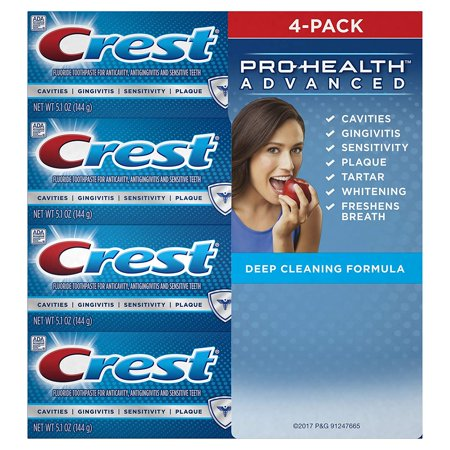 Crest Pro-Health Advanced Deep Clean Mint 5.1 oz Toothpaste, Pack of 4, Best (Best Toothpaste For Chemo Patients)