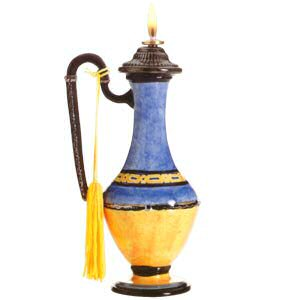 Character Collectibles GL23325 Gizem, Genie of Mystery Oil Lamp by Vanmark Fine Gifts by Design