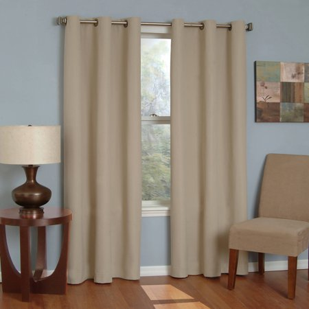 Eclipse Microfiber Energy-Efficient Grommet Blackout Curtain Panel - Ribbon Door Curtain