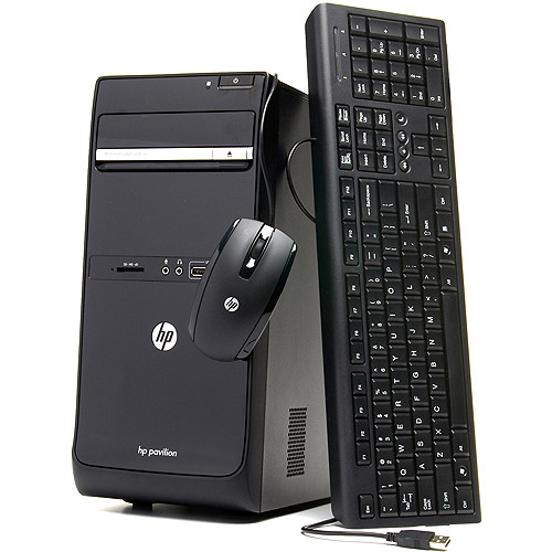 HP Refurbished Pavilion P6-2003W Desktop PC with AMD E2 3200 Processor, 4GB Memory, 1TB Hard Drive and Windows 7 Home Premium