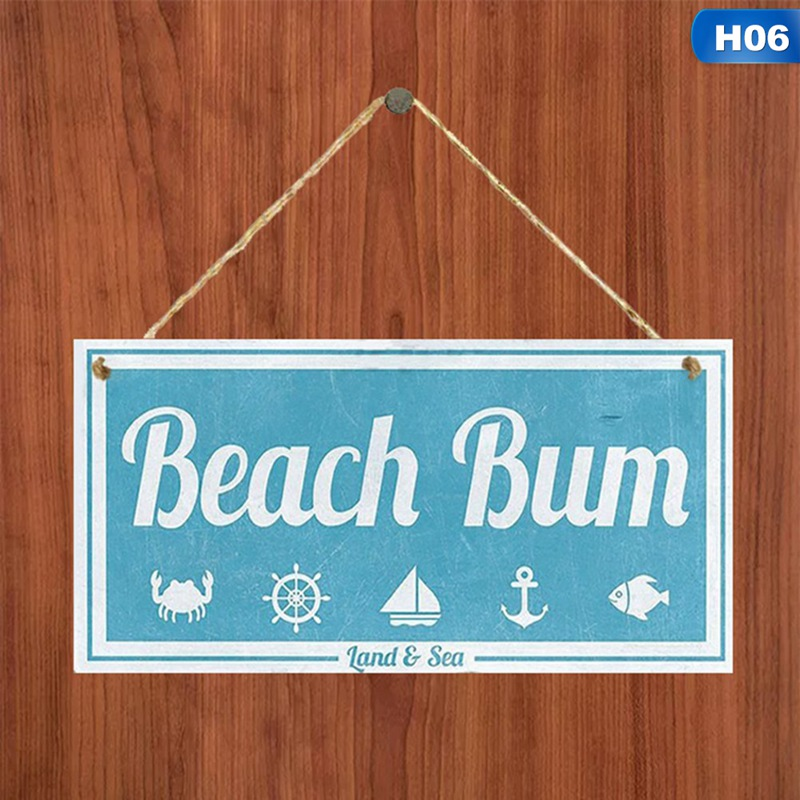 Beach Signs Hanging Plaques Wooden Signs House Seaside Decors 3.9×7.8 inch~