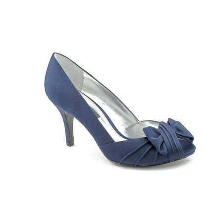 Nina Womens Forbes Satin Heel Pumps, Blue, 6 B(M) US