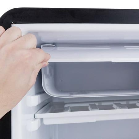 3.2 Cu Ft Retro Compact Refrigerator w/ Freezer Interior Shelves Handle - image 1 of 10