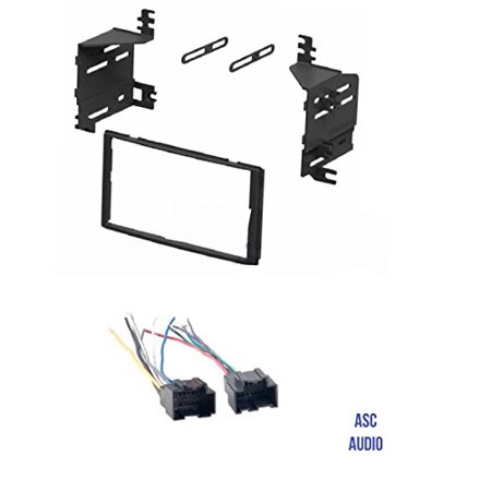 Audi Harness - ASC Audio Car Stereo Radio Install Dash Kit and Wire Harness for installing an Aftermarket Double Din Radio for 2007 2008 2009 Kia Sorento